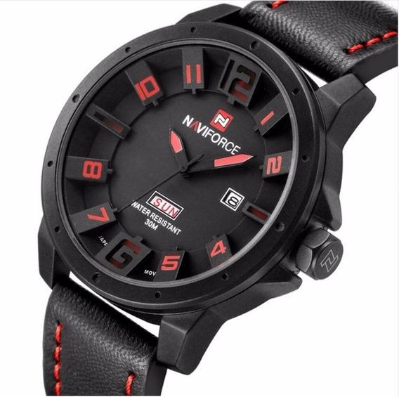 Relógio Masculino Naviforce Original 3d Quartzo Analógico