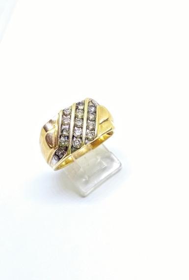 Anillo Para Caballero 10k Con Diamantes Naturales