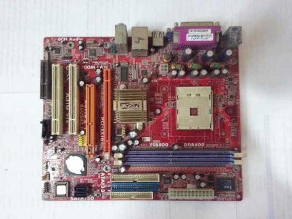 Placa Mãe Pc Chips Fsb800 Ddr400 A31g Com Defeito - 38458