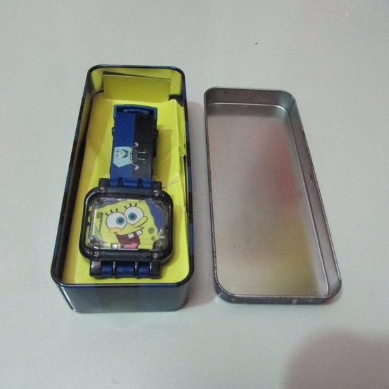Relógio Infantil Do Bob Esponja Na Caixa