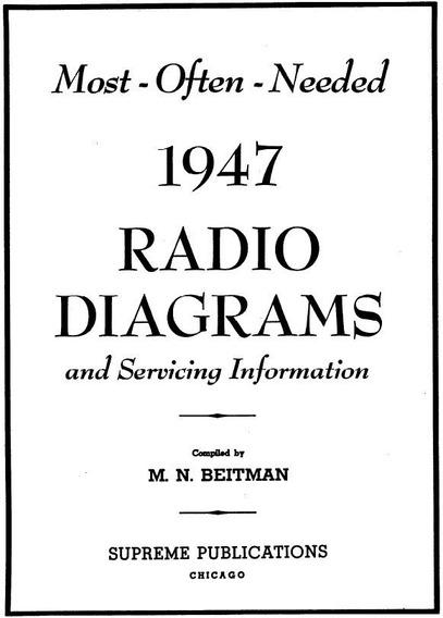 Esquemas De Radios Antigos 1947 Vintage