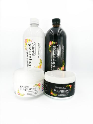Kit-shampoo,acondic,colageno Y Mascarilla Crecimie Rapunzel