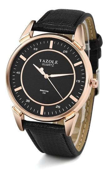 Relógio Masculino Novo Preto De Pulso Original Yazole