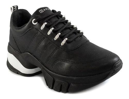 Tenis Feminino Ramarim Chunky Sneaker Flatform 2180103 Preto