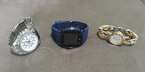Kit Relógios. Orlando 410 + Smartwatch M26 + Duoya D117