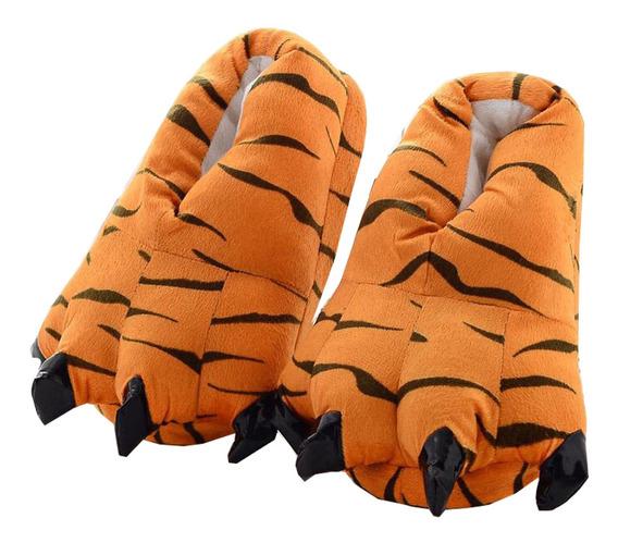 Pantufa Garras Laranja Tigre Tigrão Conforto Pronta Entrega