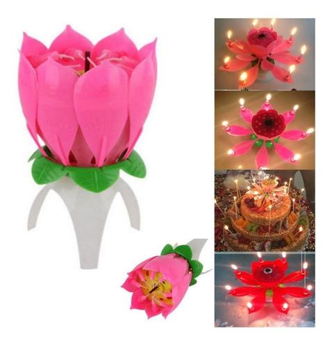 Velas Flor Magica Musical Cumpleaños Aniversarios