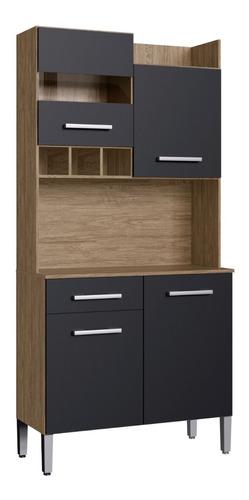 Imagen 1 de 8 de Kit De Cocina 4 Puertas 1 Cajon Negro/wood