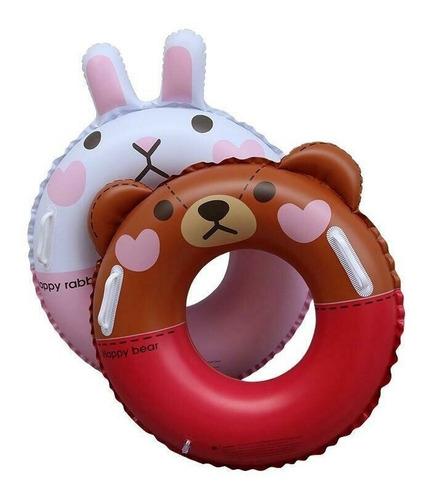Imagen 1 de 1 de Salvavidas Inflable Happy Bear Rabbit (70 Cm)