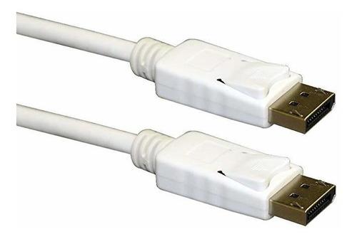 Qvs Dp-15wh Displayport Cable, 15' , Blanca