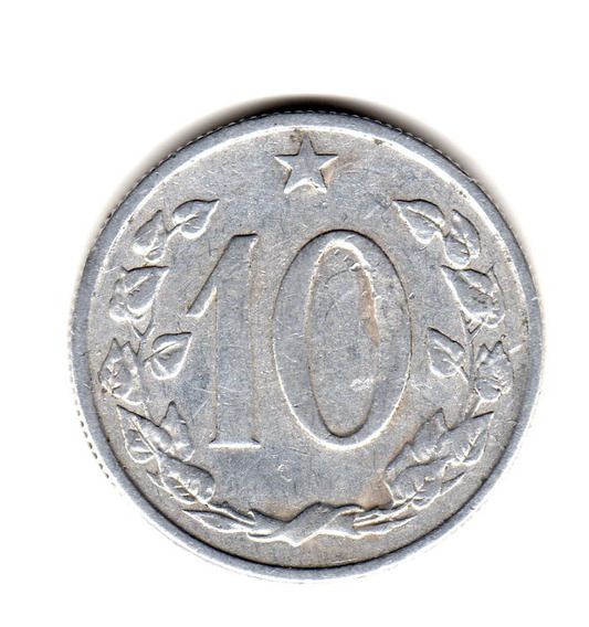 Checoslovaquia Moneda 10 Haleru Año 1962 Km#49.1