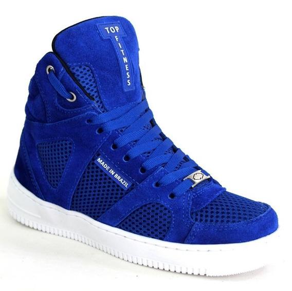 Promoção Tenis Botinha Sneakers Em Couro Top Fitness Especia