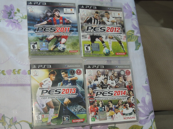 Lote Pro Evolution Pes 11 12 13 14 Playstation 3 Ps3 Fisica