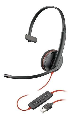 Imagem 1 de 2 de Headset Plantronics C3210 Blackwire Usb