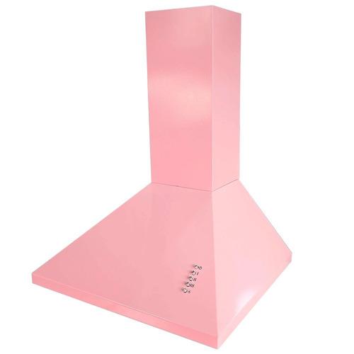 Campana Extractora De Cocina 60 Cm Piramidal 3 Vel Rosa