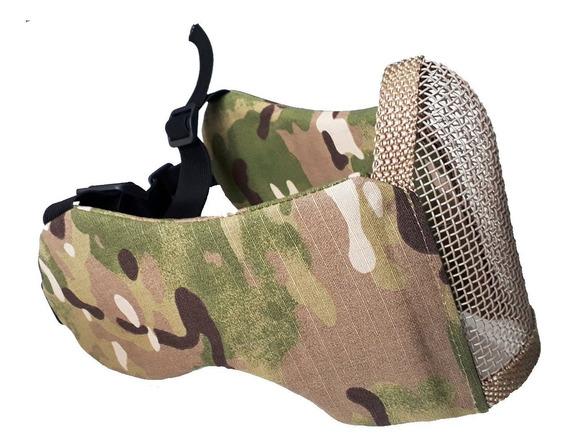 Mascara Com Proteção De Orelha Multicam Airsoft Paintball