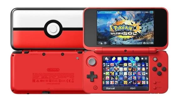 New Nintendo 2ds Xl Poké Ball + 130 Juegos + 64 Gb + Temas