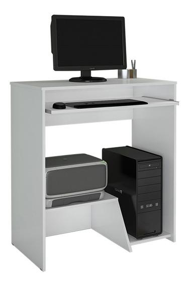Escrivaninha Mesa Para Computador Iris Branca Jcm Movelaria