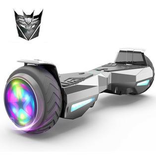 Hoverboard Plateado Transformer Patineta Electrica Luz Led 6