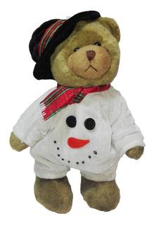 Peluche Oso Disfraz Hombre Nieve 29cm Navidad Regalo Amor