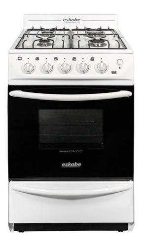 Imagen 1 de 4 de Cocina Eskabe A Gas E2 Bc 52cm Blanca Digiya