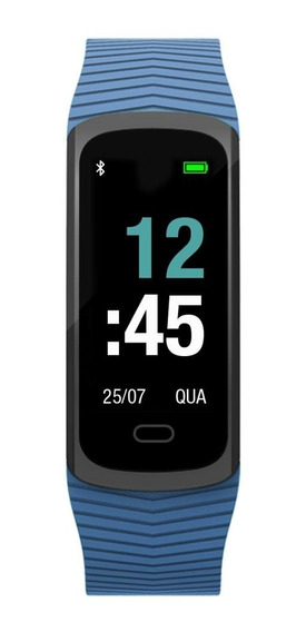 Relógio Unissex Mormaii Fit Gps Mob3ab/8a 20mm Borracha Azul