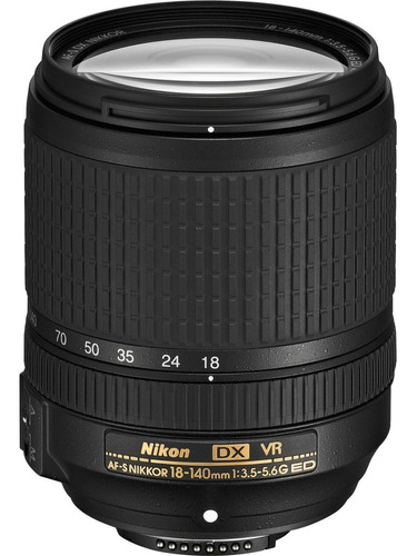 Imagen 1 de 3 de Lente Nikon Af-s Dx Nikkor 18-140mm F/3.5-5.6g Ed Vr Nuevo !