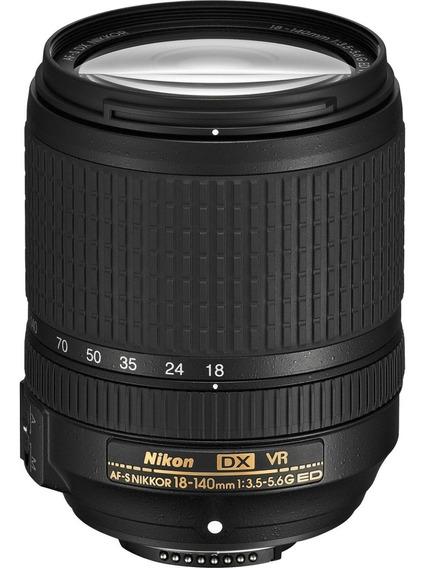 Lente Nikon Af-s Dx Nikkor 18-140mm F/3.5-5.6g Ed Vr Nuevo !