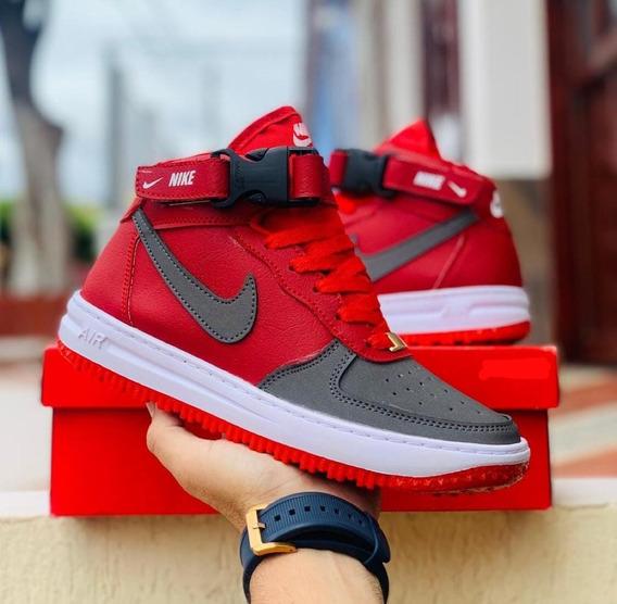 Botas Militares Negras Nike Tenis Rojo en Mercado Libre