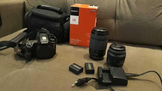Câmera Sony Alpha A37 + Lentes + Bateria Extra