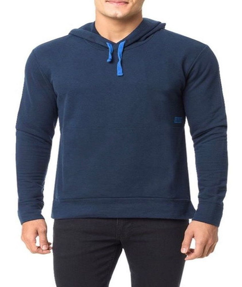 Blusa Moletom Calvin Klein Jeans Masculino Azul Ck Original