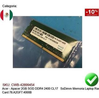 Apacer 2gb Sod Ddr4 2400 Cl17 Sodimm Ram Card 78.a2gf7.4000b