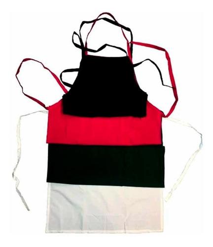 Imagen 1 de 5 de Delantal 100% Polyester Ideal Restaurante Cocina Negro