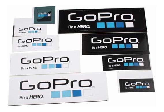 Cartela Kit Adesivo Compatível Gopro Kit 9 Adesivos