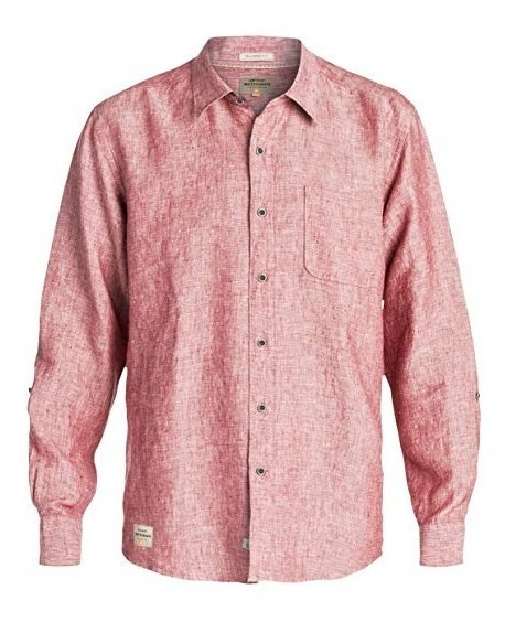 Camisa Quiksilver Hombre Coral Burgess Isle Aqmwt03345nly0