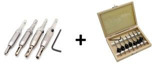 Kit Brocas Furadeira Centralizadoras + Box 8 Escariadoras