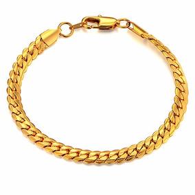 Pulseira Bracelete Nova Moda Unissex Jóias Banhada De Ouro