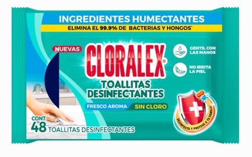 Toallas Húmedas Desinfectantes Cloralex Con 48 Toallitas