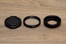 Filtro Uv 37mm C/tampa Para Gopro Hero 4 / 3+ / 3