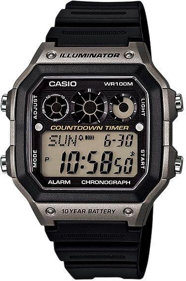 Relógio Casio Digital Esportivo Ae-1300 Wh-8av Prata Ae1000