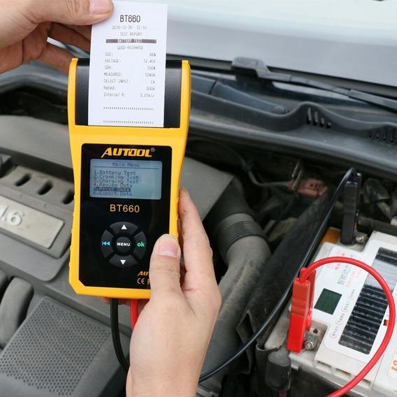 Analisador Bateria Carro Com Impressora Testador De Bateria
