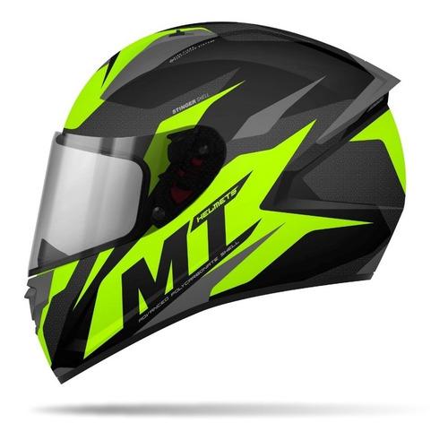Casco Mt Para Moto / Mt Helmets Stinger / Brave Amarillo