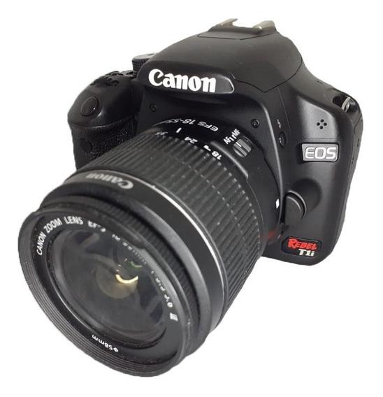 Canon Câmera T1i Seminova Perfeita + Lente 18-55 Mm