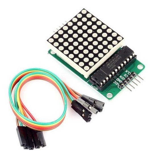 Matriz Led Vermelho De 3mm 8x8 Com Chip Max7219 - Arduino