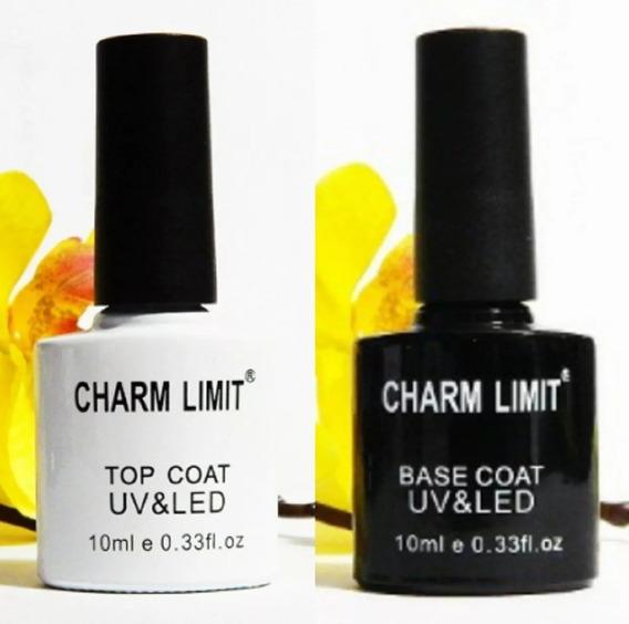 Base Y Top Coat Brillo Final Esmaltes Uñas Semipermanentes