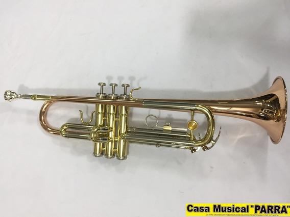 Trompeta De 3 Oro Plata Bronce Hermosa