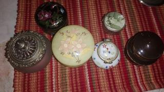 Lote Perfumeros Miniatura Y Pastilleros Antiguos Colección
