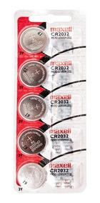Bateria Maxell Lithium Cell Cr2032 3v Cartela C/100 Unid