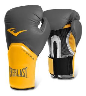 Kit Muay Thai Luva Everlast Amarela + Acessórios+bandagem 5m