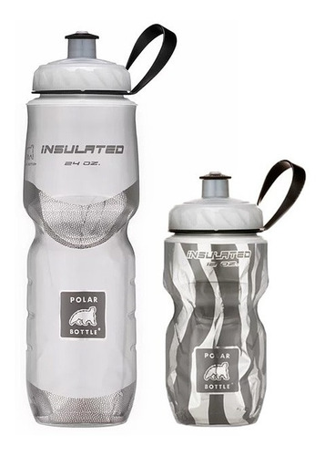 Kit 2 Caramanholas Polar Bottle: Zebra 355ml E Branca 710ml